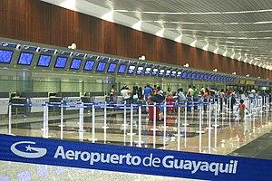 José Joaquín de Olmedo International Airport - Image: Aeropuertojosejoaqui ndeolmedo