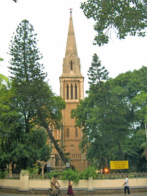 Henry Conybeare - The tower of the Afghan Church, Colaba, Mumbai