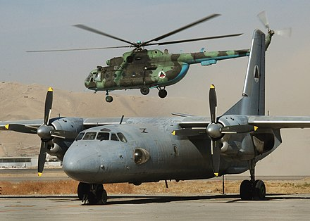 AN-26 and Mi-17 are used by the Nicaraguan Air Force. Afghan MI-17 and AN-26.jpg