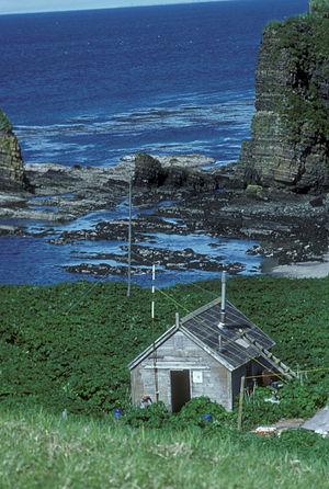 Agattu - Agattu Island, refuge cabin, Aleutians 1988. Courtesy: USFWS