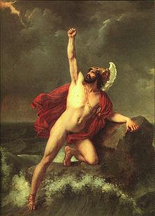 Aiace in un dipinto di Henri Serrur