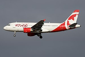Air Canada Rouge - Image: Air Canada Rouge Airbus A319 C FZUG (23865541110)
