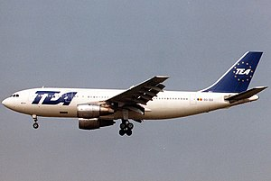 Trans European Airways - TEA Airbus A300 in 1990
