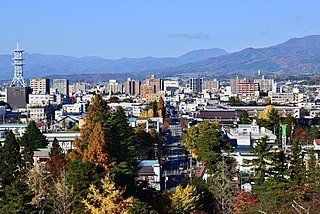 Aizuwakamatsu City in Tōhoku, Japan