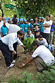Ajoy Kumar Ray Plants Mahogany - Inaugural Session - Summer Camp - Nisana Foundation - Sibpur BE College Model High School - Howrah 2013-06-07 8710.JPG