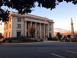 Alamance County Courthouse and Confederate Memorial from NE Corner.jpg
