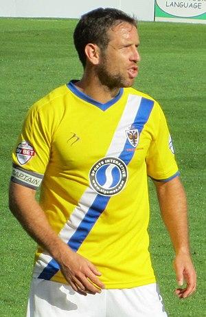 Alan Bennett (footballer, born 1981) - Bennett playing as captain for AFC Wimbledon in 2013