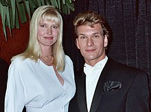 Alan Light - Patrick Swayze - 1990 Grammy Awards (cropped).jpg