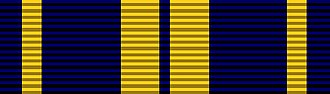 Awards and decorations of the State Defense Forces - Image: Alaska National Guard Air Medal Ribbon