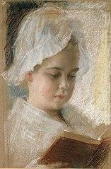 Portrait of Berta Edelfelt, study