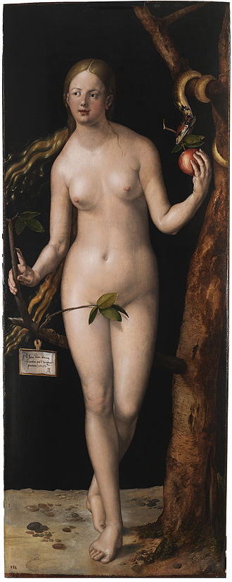 Eve (name) - Albrecht Dürer painting of the Biblical Eve.  In Genesis, Eve (or Eva) was the first woman created.
