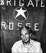 Aldo Moro, photographed during his kidnapping by the Red Brigades