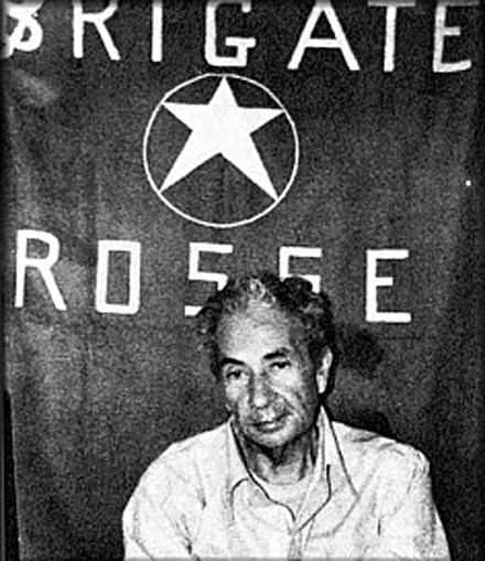 Moro, photographed during his detention by the Red Brigades