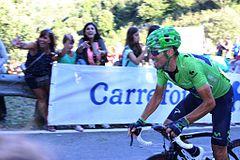 Valverde in maglia verde alla Vuelta a España 2013