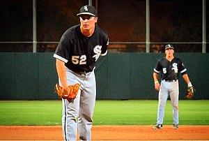 Alex Katz (baseball) - Alex Katz pitching in July 2015.