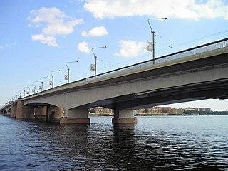 Alexander Nevsky Bridge Road bridge in St Petersburg, Russia