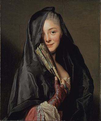 1768 in art - Image: Alexander Roslin The Lady with the Veil (the Artist's Wife) Google Art Project