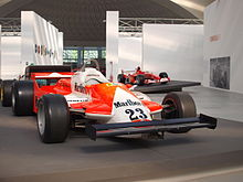 Photo de l'Alfa 179 de Giacomelli en 1980