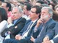 Alfonso Guerra, Juan Carlos Rodríguez Ibarra y Guillermo Fernández Vara en un acto público del PSOE en Badajoz.jpg