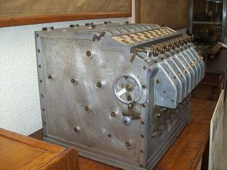 máquina algébrica, vista lateral