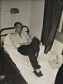 Image of Alastair McCorquodale in the Olympic Village, London 1948