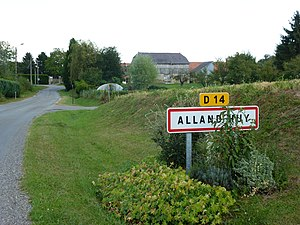 Alland'Huy-et-Sausseuil (Ardennes) city limit sign Alland'Huy.JPG