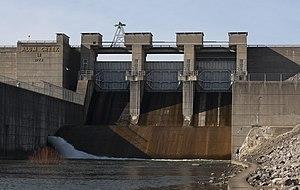Alum Creek State Park - Tainter Gates and Spillway of Alum Creek Dam