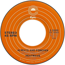 A-side label of U.S. vinyl release