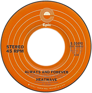 Always and Forever (Heatwave song) - Image: Always and Forever by Heatwave US vinyl single