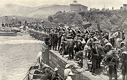 American troops landing at Daiquirí in 1898