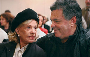 Amos Gitai - Amos Gitai and Jeanne Moreau at the One day you'll understand shooting, (2008)