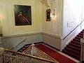 Amsterdam, Stadsschouwburg, zicht van Gijsbrechtbordes op trappartij en doorgang naar Rabo Zaal.jpg
