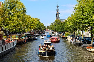 Canals of Amsterdam Grachten dug in the 17th century during the Dutch Golden Age; UNESCO World Heritage Site