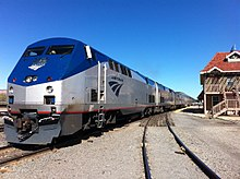 in the 21st century amtrak replaced its f40ph units with the ge genesis pictured are amtrak engines 1 and 56 both ge genesis p42dc diesels