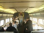 Snack car in an Amtrak train