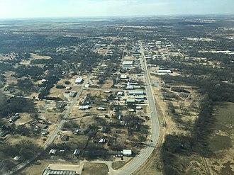 Healdton, Oklahoma - Aerial view of Healdton, Oklahoma