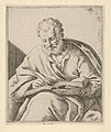 An old man seated and writing in a book (an evangelist?) MET DP837922.jpg