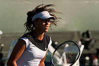 Ana Ivanovic practices @ Bank of the West Classic 2010.jpg