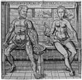 Anatomical plate, a male and female figure. Wellcome M0009008.jpg