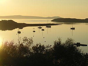 English: Anchorage in Loch Kanaird Loch Kanair...