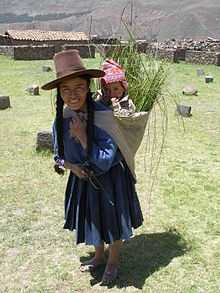 An Andean woman and her child.