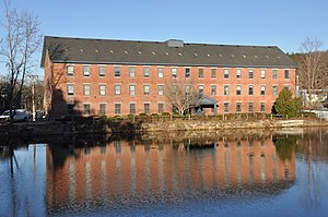 National Register of Historic Places listings in Essex County, Massachusetts - Image: Andover MA Ballardvale Mill Pond