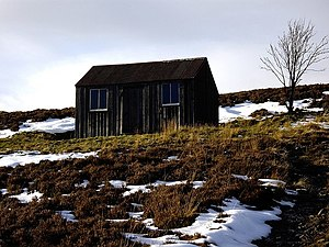 English: Anne's hut on the flank of Tornichelt...