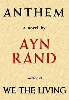 <i>Anthem</i> (novella) novel by Ayn Rand