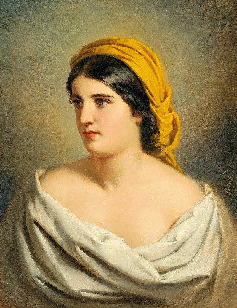 Антон Эберт - Портрет женщины с желтой косынкой.jpg
