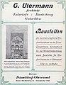 Anzeige Architekt Gustav Utermann, Büro Kaiser-Friedrich-Ring 44, in Beilage Adressbuch Düsseldorf 1910.jpg