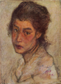 AokiShigeru-1904-Head of a Woman.png