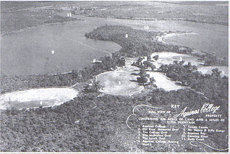 Aquinas College, Perth - Aerial view of the campus in 1949