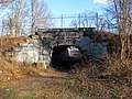 Arboretum Road pedestrian tunnel under Needham Line, March 2016.JPG