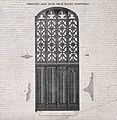 Architecture; decorative iron door at Rouen Cathedral. Wood Wellcome V0024314.jpg